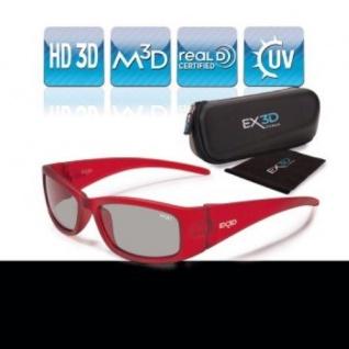 EX3D Kinder 3D Brille passiv Polfilterbrille Kids rot für HD 3D-TV Kino RealD