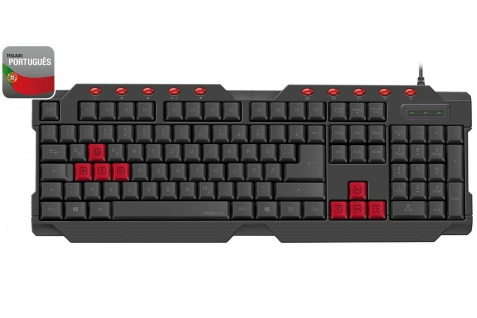 Speedlink FERUS USB Gaming Tastatur Portugal PT PRT QWERTY Keyboard-Layout Gamer