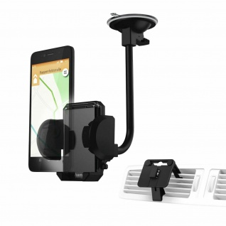 Hama Universal Klemm-Halterung Saugnapf Lüftung Auto für Smartphones 4-11cm