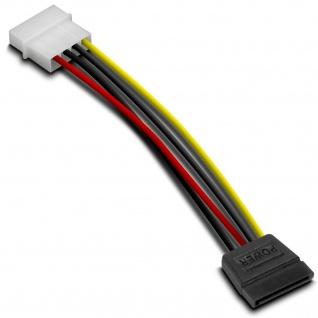 """Speedlink PC Strom-Kabel Adapter IDE 5, 25"""" Stecker zu SATA 15-polig Buchse Molex"""