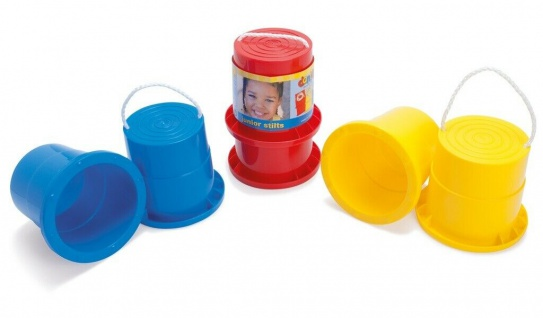 Dantoy Laufstelzen Blau Topf-Stelzen Dosenstelzen Kinder Outdoor Spielzeug Spiel