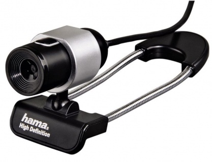 Hama USB HD Webcam Black Tube 720p Kamera Cam Universal Notebook Laptop PC Chat