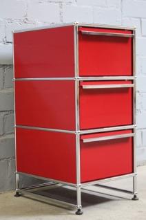 USM Haller Container Regal Kommode Ablage Standcontainer rot 3 Auszüge