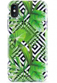 Puro Jungle Tropical Cover Case Schutz-Hülle Dschungel für Apple iPhone X Xs