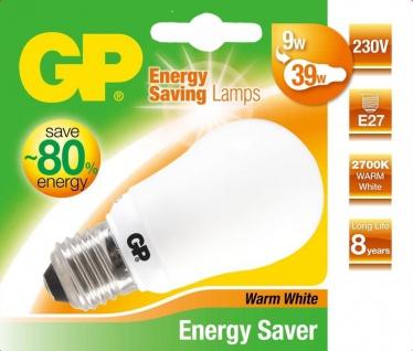 GP Energiespar-Lampe E27 9W / 39W Birne Warmweiß Lampe Glüh-Birne Leuchtmittel
