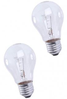 Hama 2x Pack Glüh-Birne 25W E27 Klar 230V Warm-Weiß Glüh-Lampe Leuchtmittel