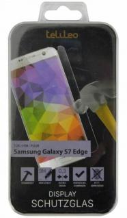 Telileo Hart-Glas Display -Folie Schutz-Folie Panzer für Samsung Galaxy S7 Edge