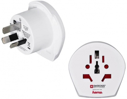 SKROSS Reise-Stecker Strom-Adapter Euro EU Deutschland > Australien Neuseeland