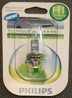 2x Philips H1 Eco Vision 12V Energy Saver Glüh-Birnen Glüh-Lampen KFZ Xenon-Gas - Vorschau 2