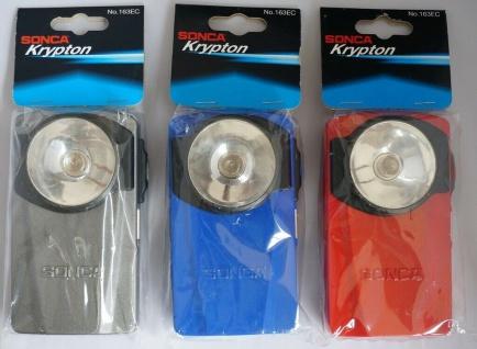 Sonca Krypton Taschenlampe Lampe Leuchte hell mit Metall-Gehäuse Flash Light