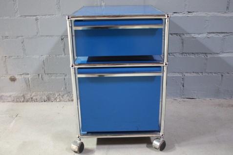 USM Haller Rollcontainer Container 2 Auszüge A6 A4 enzianblau Hängeregistratur