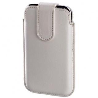Hama Handytasche Köchertasche Business Line vertikal Weiß Leder Universal