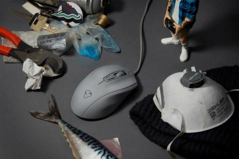 Mionix Gaming + Artists Maus Castor Shark Fin Grau Optisch USB PC Mouse 5000 DPI