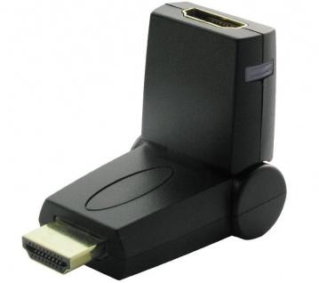 Schwaiger HDMI-Adapter Winkel-Stecker Winkel-Buchse 90°-180° Winkel-Adapter