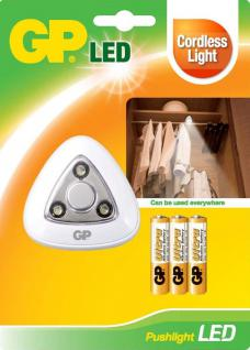GP Lighting LED Push Lampe Touch Licht Batterie Drück Stick Push Light Schrank