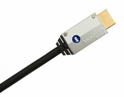 Monster Cable HQ HDMI-Kabel 1m Metall-Stecker High-Speed Ethernet Full-HD TV 3D
