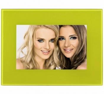 Hama Portraitrahmen Glas Gelb 10x15cm Portrait Bilder-Rahmen Foto Bild Porträt