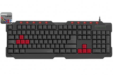 Speedlink FERUS USB Gaming Tastatur Nordic SWE NO FIN DNK QWERTY Keyboard-Layout
