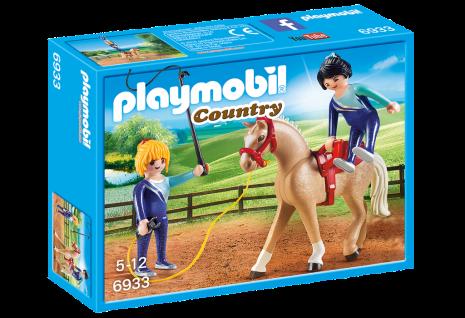 Playmobil Country 6933 Voltigier-Training Pferde-Training Kunststück Vorführung