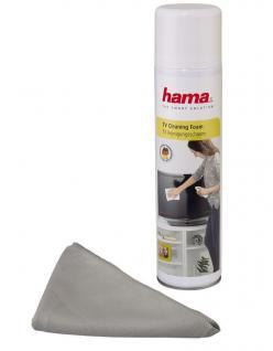 Hama Reinigungsschaum + Tuch Spray 400ml Reiniger für PC Monitor TFT Bildschirm