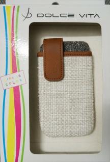 DOLCE VITA Juta Handy-Tasche Etui für Apple iPhone 4 4S Case Schutz-Hülle Wallet - Vorschau 3