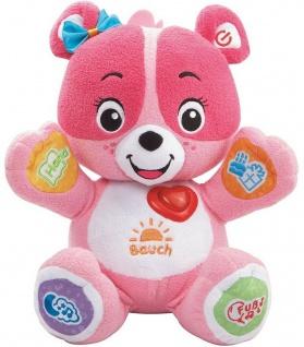V-Tech Baby Entdecker-Bärchen Pink Knuddel-Bär Stoff Lern-Spielzeug Lieder Zeit