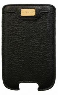 Le Tanneur Pouch Tasche Case Etui Schutz-Hülle schwarz für Samsung Galaxy SII S2
