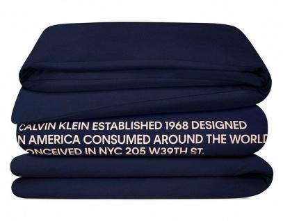 Calvin Klein Bettbezug Navy 240x220cm Decken-Bezug Deckbett-Bezug Bett-Wäsche
