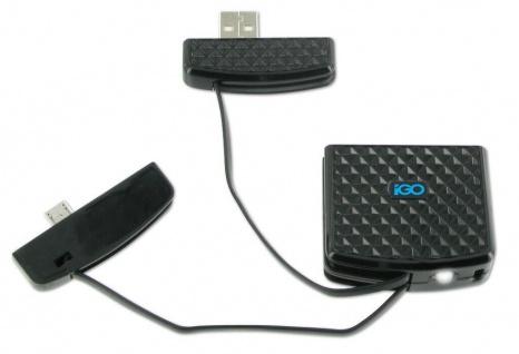 iGo Not-Akku Power Bank Micro-USB Ladegerät Schlüssel-Anhänger Handy Smartphone