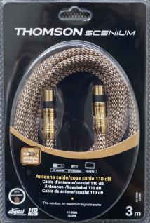 Thomson Scenium 3m Antennen-Kabel 110db Digital Koaxial-Kabel Koax-Kabel HD-TV