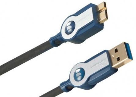 Monster HP HQ 2, 1m Micro-USB 3.0 USB-Kabel Ultra High-Speed Micro-B-Stecker PC