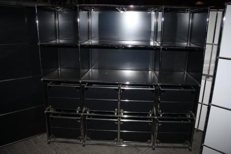 USM Regal Highboard 12x Fach 8x Hängeregister schwarz