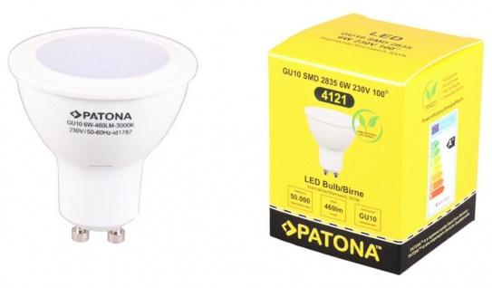 Patona LED-Lampe GU10 Strahler Reflektor 6W / 35W Warm-Weiß 3000K Leuchtmittel