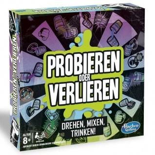 Hasbro Probieren oder Verlieren Trinkspiel Partyspiel 2-6 Spieler ab 8 Jahren