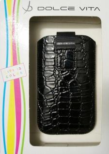 DOLCE VITA Croco Tasche Etui Case Schutz-Hülle Bag für Apple iPhone 4S/4 3GS/3G