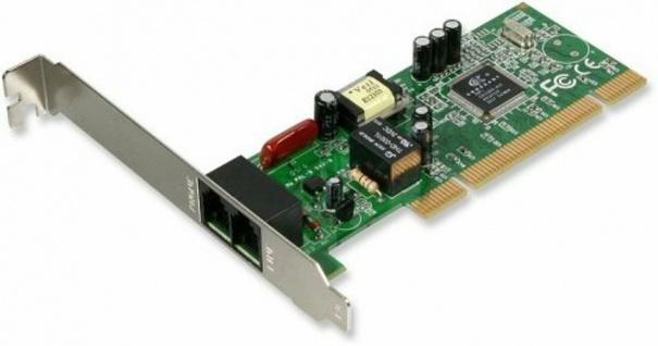 x-tensions PCI-Karte 56k V.92 Modem Intern PCI-Card Faxmodem Modem-Karte RJ11