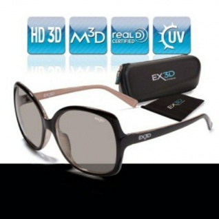 EX3D Damen 3D Brille passiv für LG Philips Sony Panasonic Grundig .. 3D-TV HD-TV