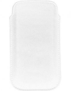 Cellux Echtleder Schutz-Hülle Pouch L weiß Case Tasche universal für Samsung etc
