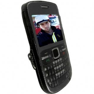 Krusell Handy-Tasche + Clip Leder für Nokia C3 C3-00 Schutz-Hülle Case Cover Bag