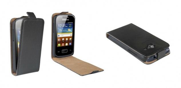 Patona Slim Flip Klapp-Tasche Schutz-Hülle Cover für Samsung Galaxy Pocket 2