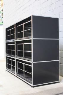 USM Haller Aktenregal Hängeregistratur-Regal Board 6 Fächer mit Auszügen schwarz