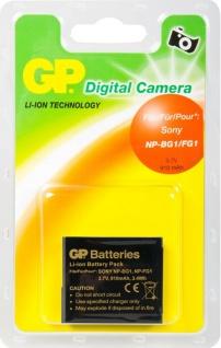 GP Li-Ion Akku für Sony NP-BG1 NP-FG1 N1 N2 H3 H7 H9 H10 T20 W30 WX1 HX5V HX9V