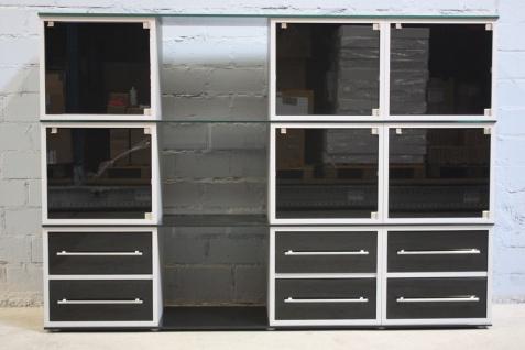 Klenk Collection Design Glas-Regal Schrank 12 Würfel 6 Türen Schubladen Vitrine