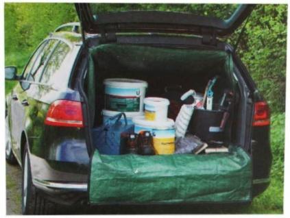 PKW Schutz Laderaum-Abdeckung Kofferraum-Wanne Transport-Sack Garten-Abfall TOP - Vorschau 2