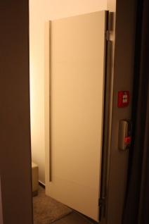 Tür Umkleidekabine Edelstahl weiß Kabine Design Schwenktür Ladeneinrichtung