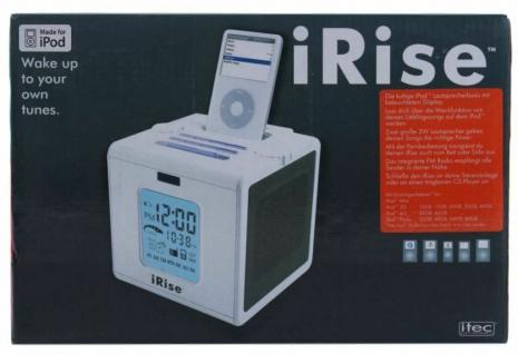 iRise Soundsystem Lautsprecher Radio Wecker Audio Docking Boxen für Apple iPod