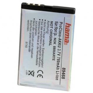 Hama Akku Batterie für Nokia BL-4U C5-03 500 Asha 300 E66 5530 8800 Arte 6600 ..