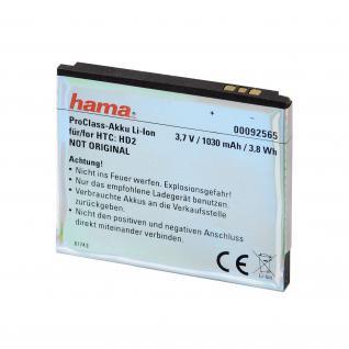 Hama ProClass Li-Ion Akku für HTC BA-S400 HD2 HD 2 LEO T8585 Touch Firestone - Vorschau 2