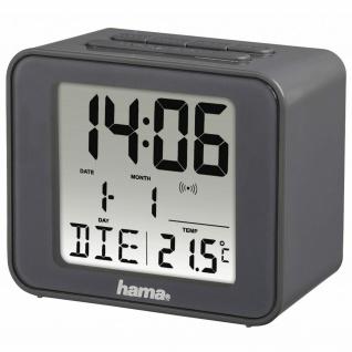 Hama Funkwecker Würfel Uhr Alarm Schlummer Datum Temperatur Thermometer