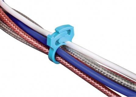 Hama 14x Kabelbinder Kabel-Klemmen Kabel-Kanal Kabel-Organizer für PC TV HiFi AV - Vorschau 1